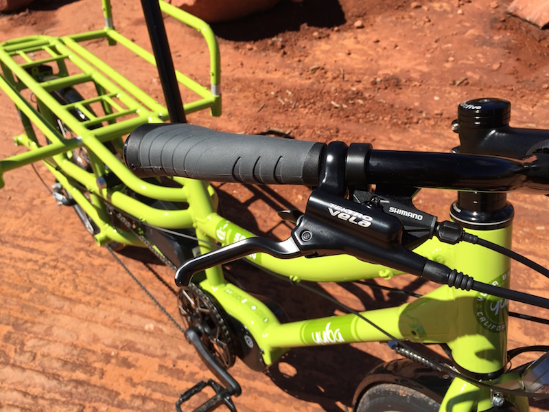 yuba spicy curry electric cargo bike brake lever