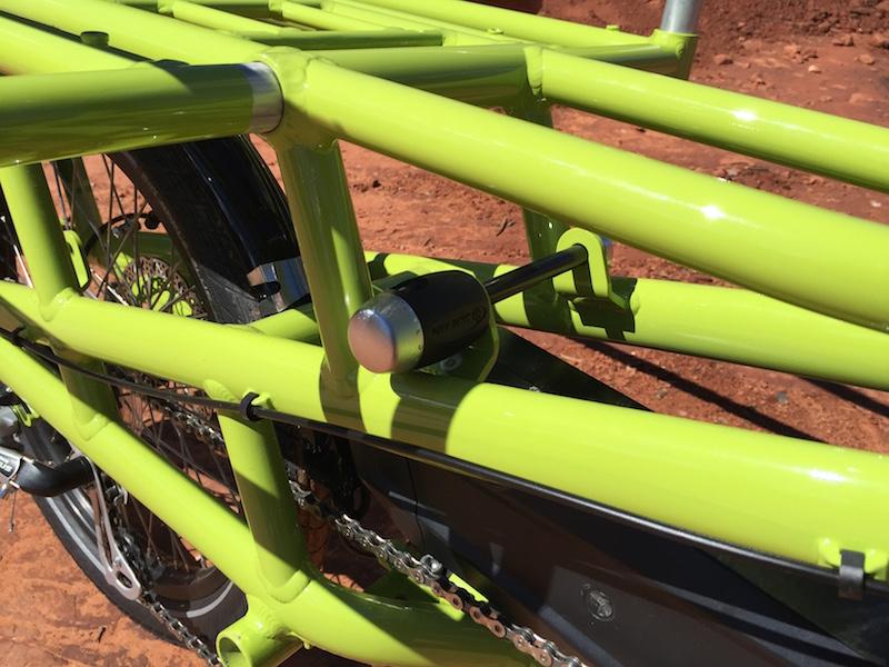 yuba spicy curry electric cargo bike lock