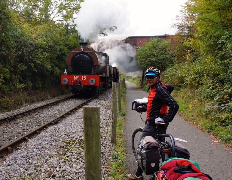 Gary & Steam Train Close up