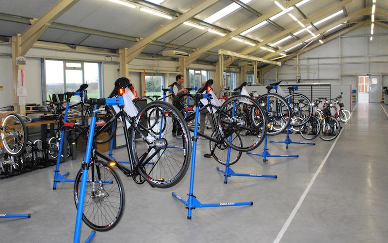 Bike assembly area