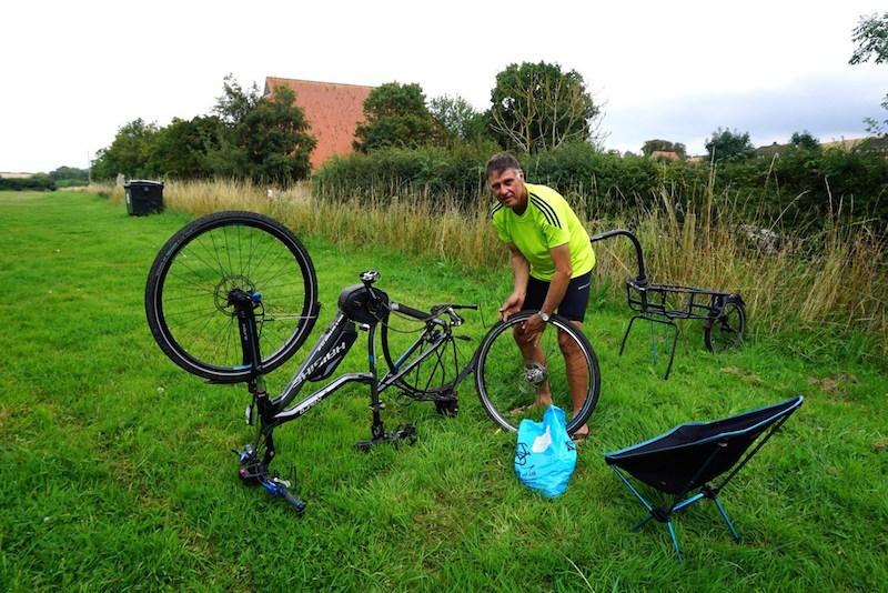 Haibike Trekking RX electric bike flat fix