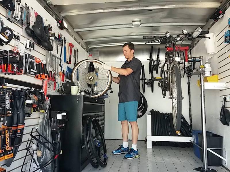 beeline mobile bike shop inside