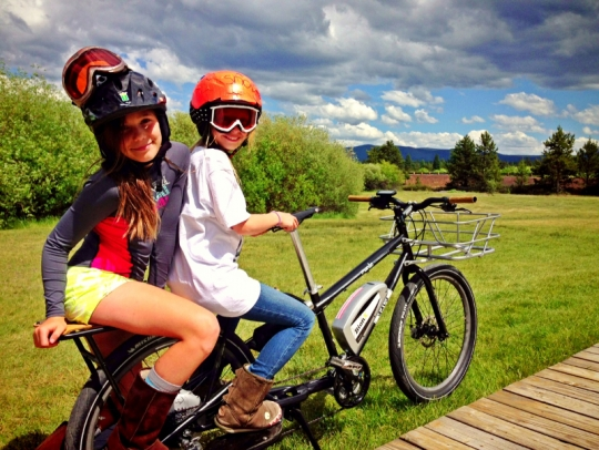 family electric cargo bike