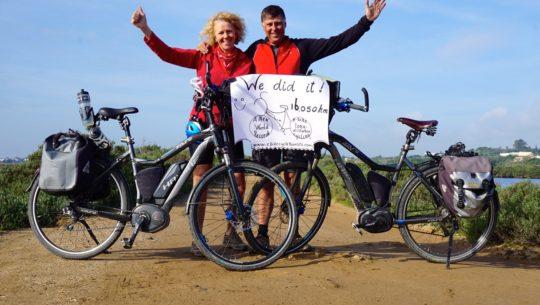E-Bike Cycle Tourists Set New World E-Bike Long Distance Record