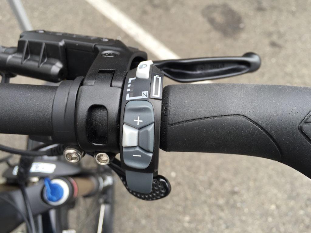 Ohm sport electric bike control pad