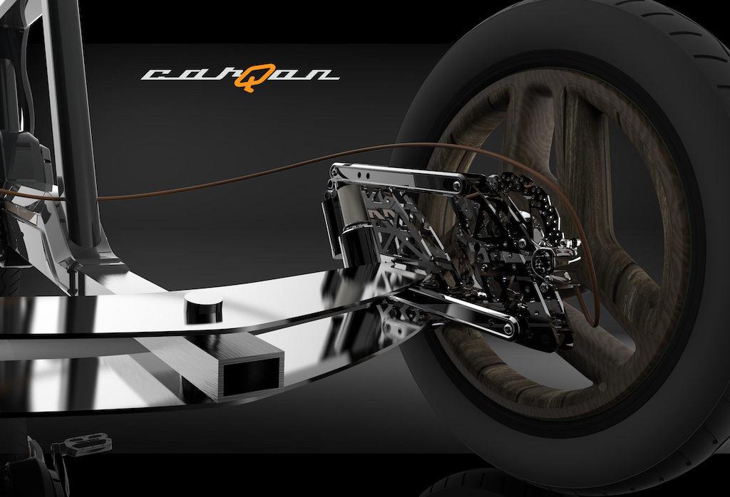 carQon electric cargo trike suspension