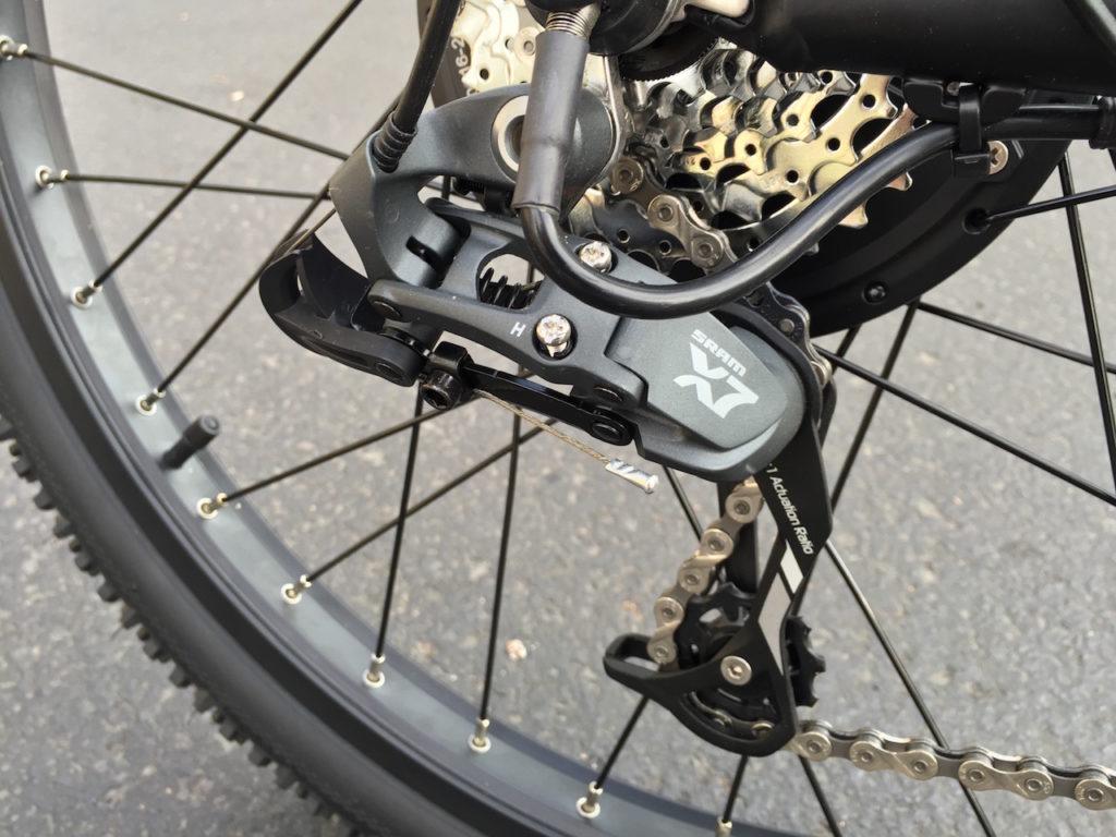 ProdecoTech Phantom XR electric bike sram x7 derailleur