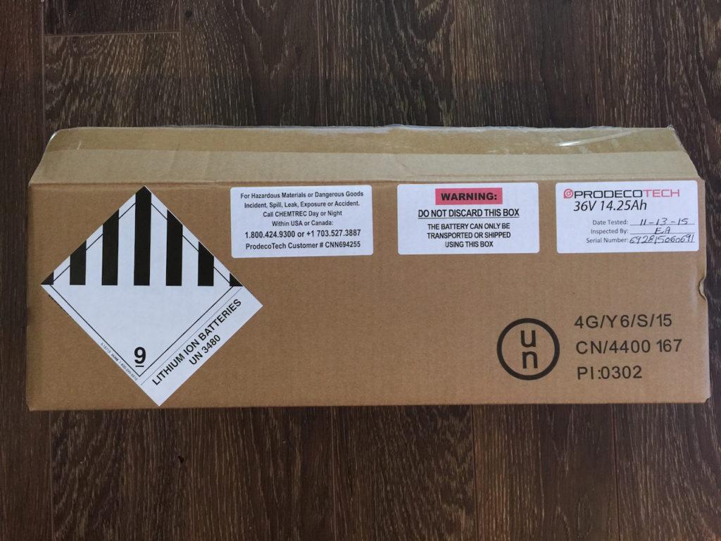 prodecotech rebel x9 battery shipping box