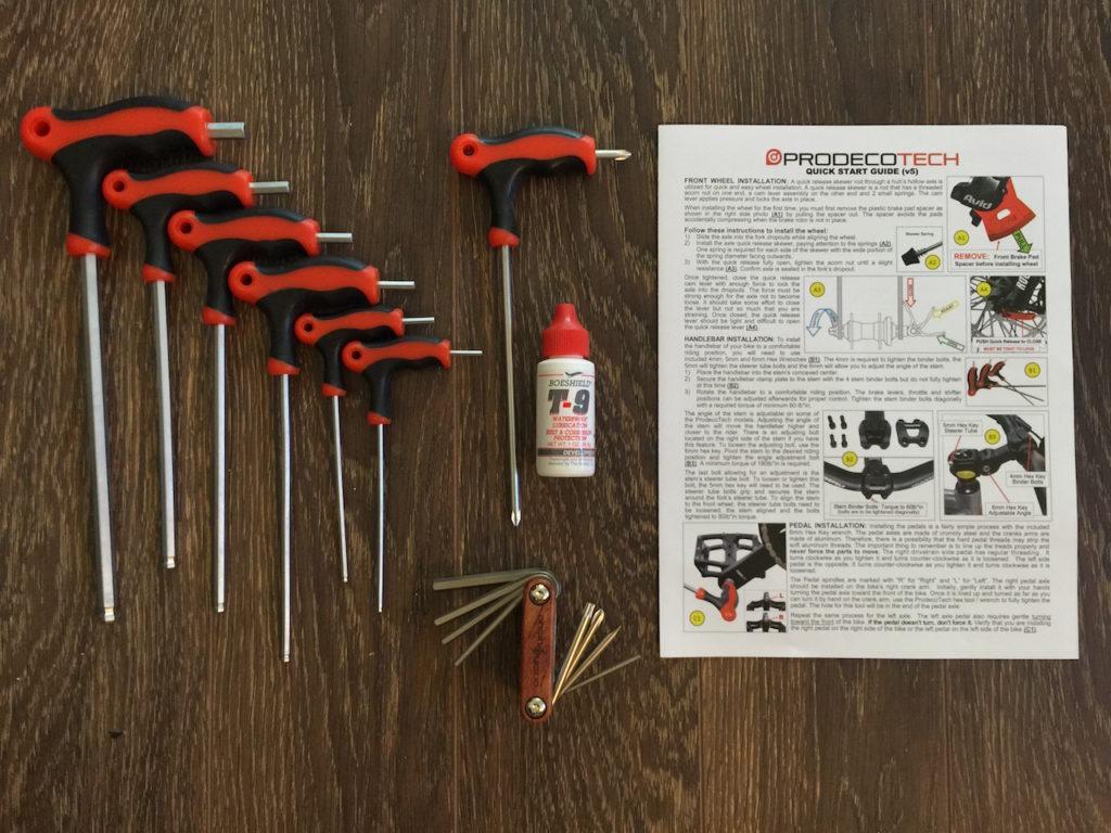 prodecotech rebel x9 tools instructions