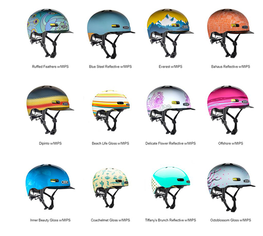 The wild and zany Nutcase bike helmets!