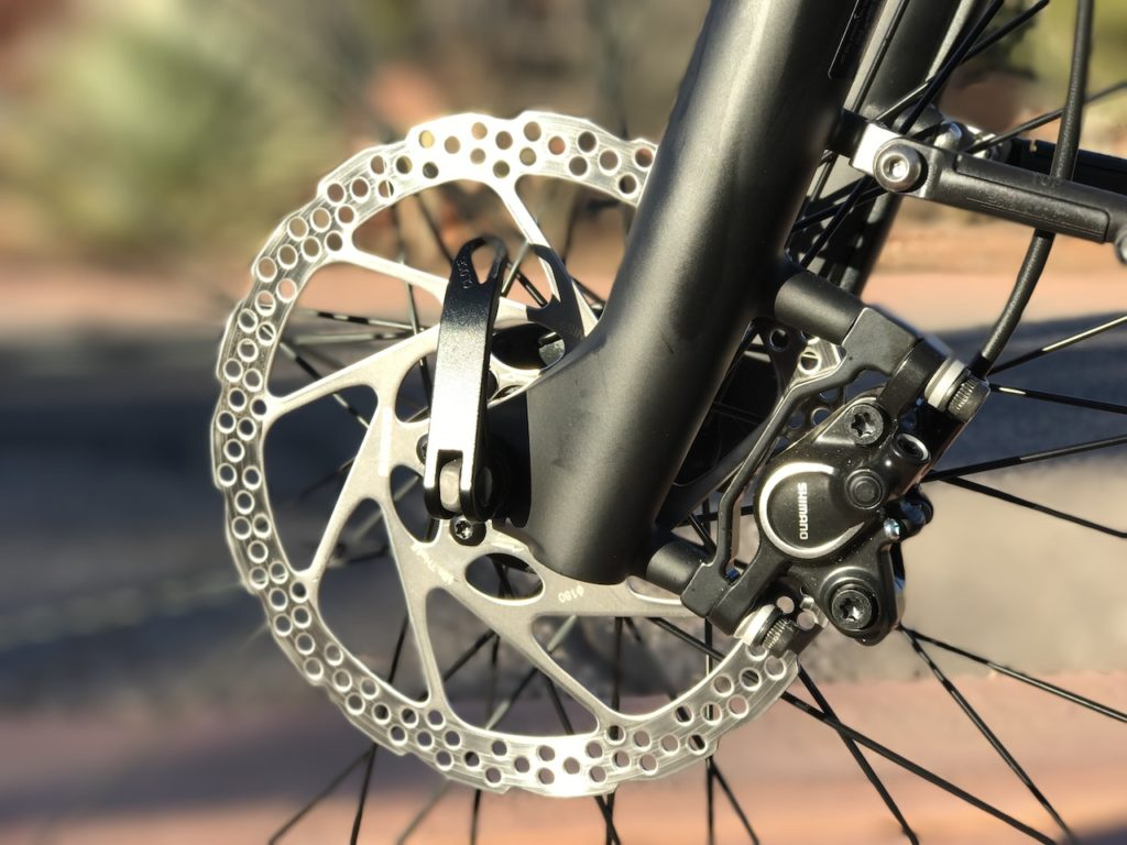 izip-e3-dash-electric-bike-front-disc-brake