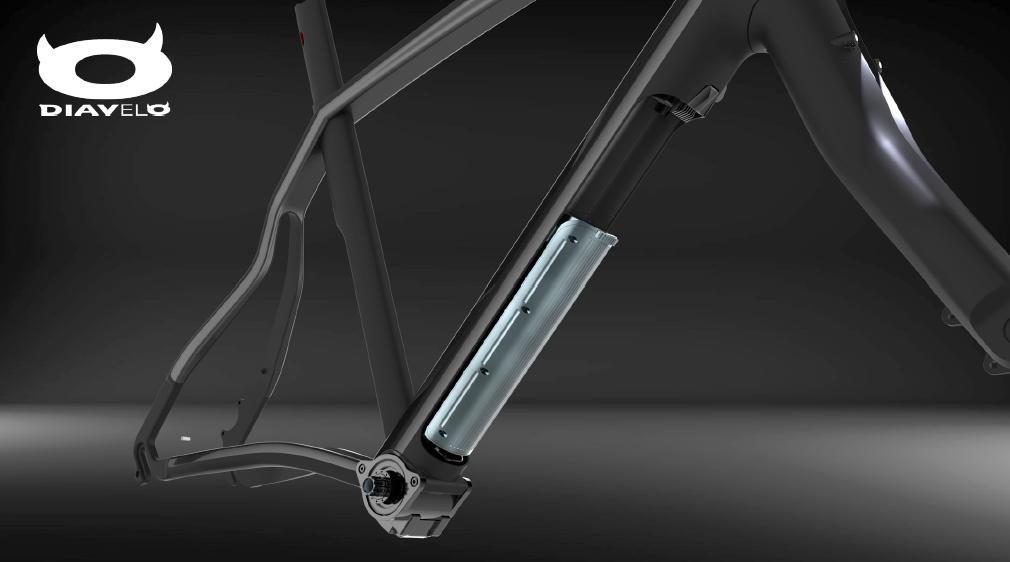 Diavelo Virtuale Fazua motor battery frame