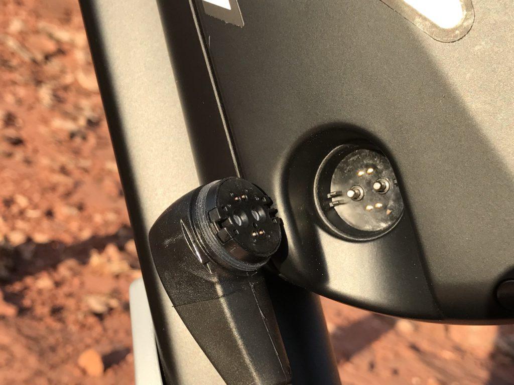 Fantic XF1 Casa electric mountain bike battery connection