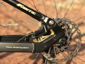 Fantic XF1 Casa electric mountain bike rear disc brake