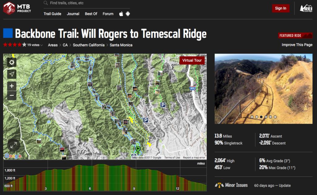 electric mountain bike trail map mtb project