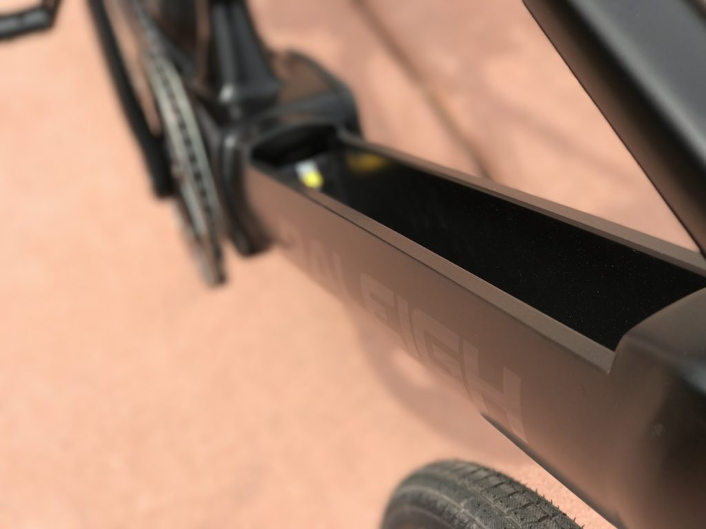 Raleigh Redux iE electric bike battery removed