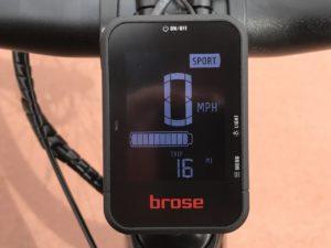 Raleigh Redux iE electric bike brose display