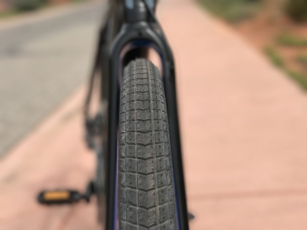 Raleigh Redux iE electric bike front tire