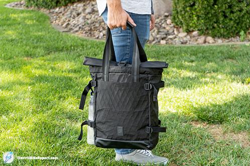 Chrome_BLCKCHRM_Backpack_Holding_Bag