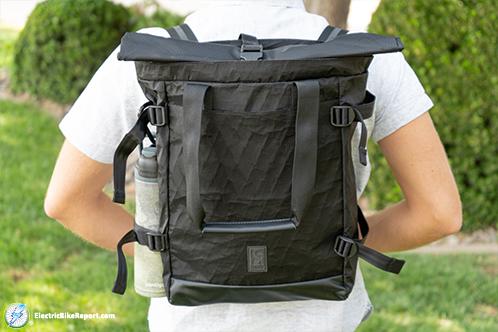 Chrome_BLCKCHRM_Backpack_On_Back