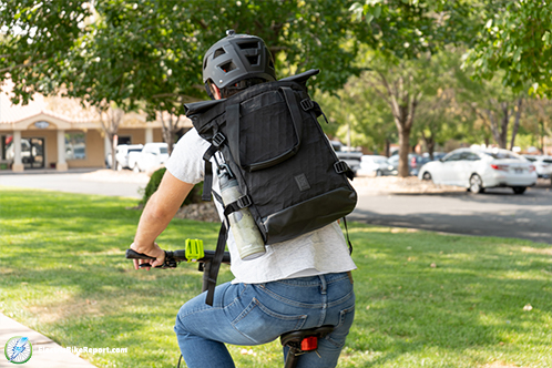 Chrome_BLCKCHRM_Backpack_Riding_with_Bag