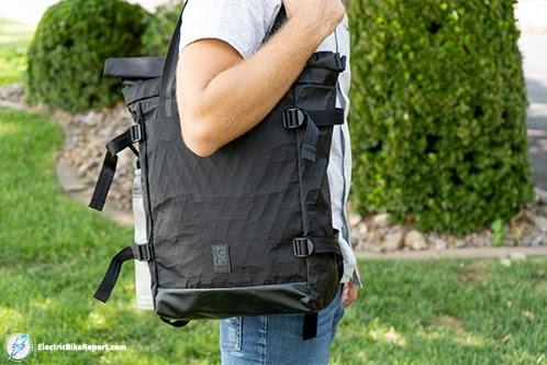 Chrome_BLCKCHRM_Backpack_Over_Shoulder