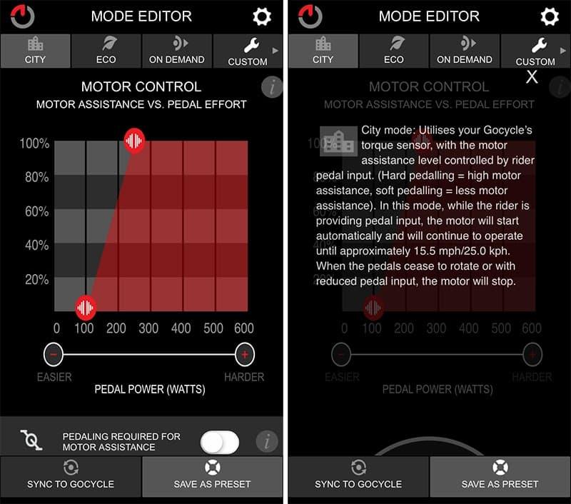 City Mode GocycleConnect app
