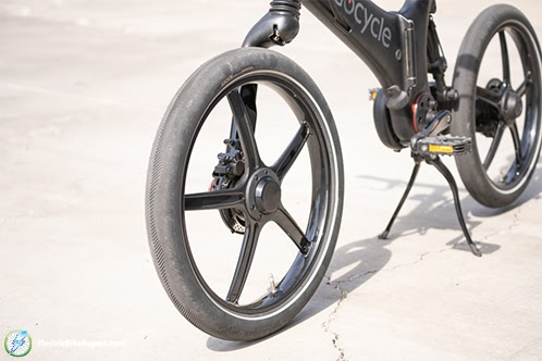 GoCycle GX Fork Side View Cargo