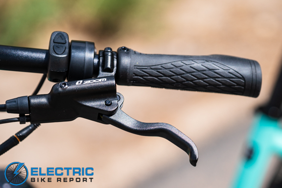 Aventon Pace 500 Step Through Electric Bike Review Grips