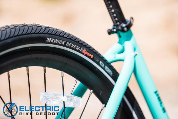 Aventon Pace 500 Step Through Electric Bike Review Kenda Kwick Drumlin Tires