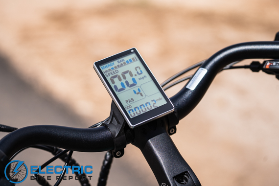 Aventon Pace 500 Step Through Electric Bike Review LCD Display