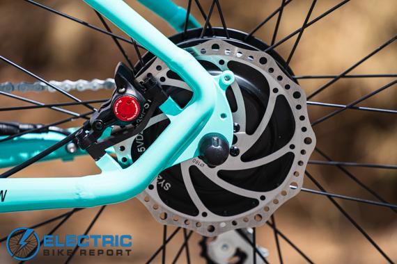 Aventon Pace 500 Step Through Electric Bike Review Zoom Hydraulic Brake Set