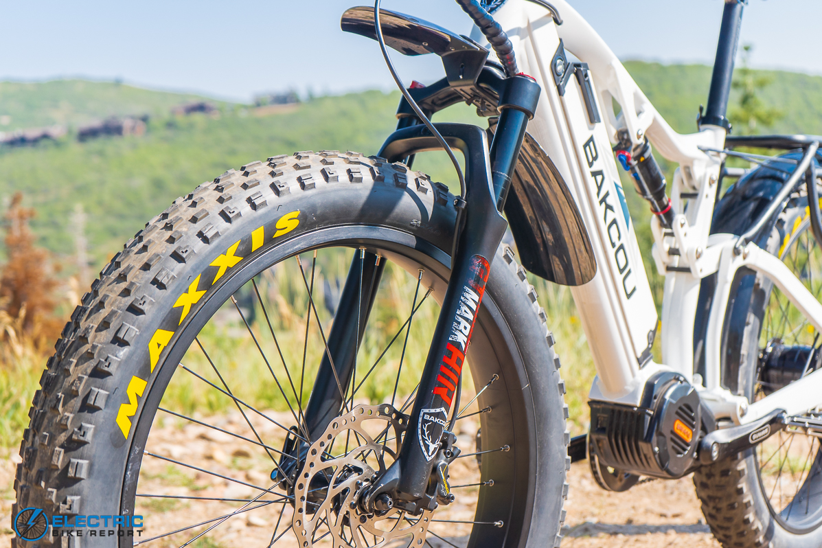 Backou Storm Electric Bike Review front angle