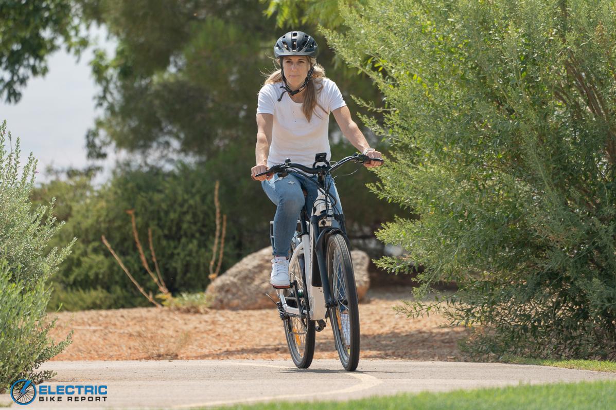 Euphree City Robin Electric Bike Review cornering