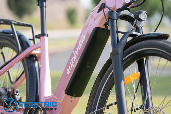 Euphree City Robin Electric Bike Review inegrated downtube battery