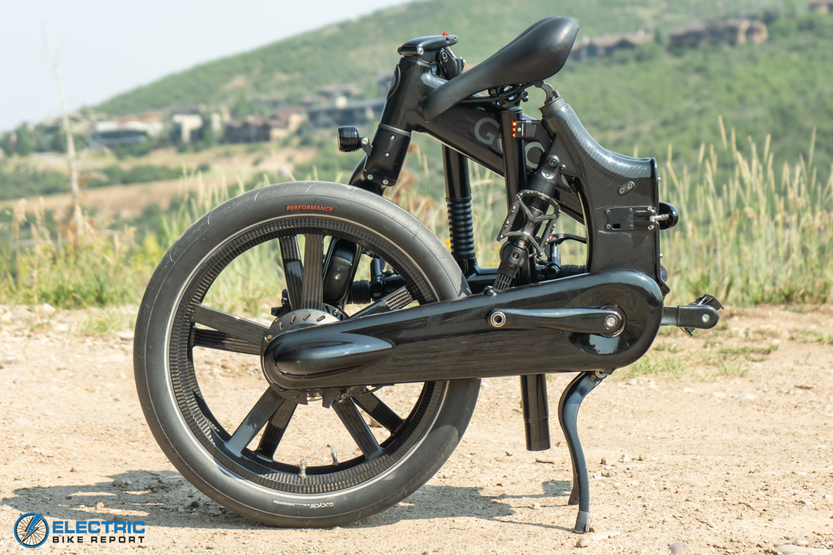 Gocycle G4 Electric Bike Review folded