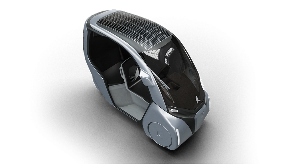 Hoppa with solar panel