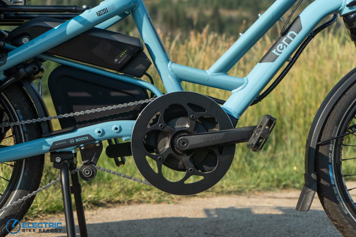 Tern HSD S11 Electric Bike Review motorbattery