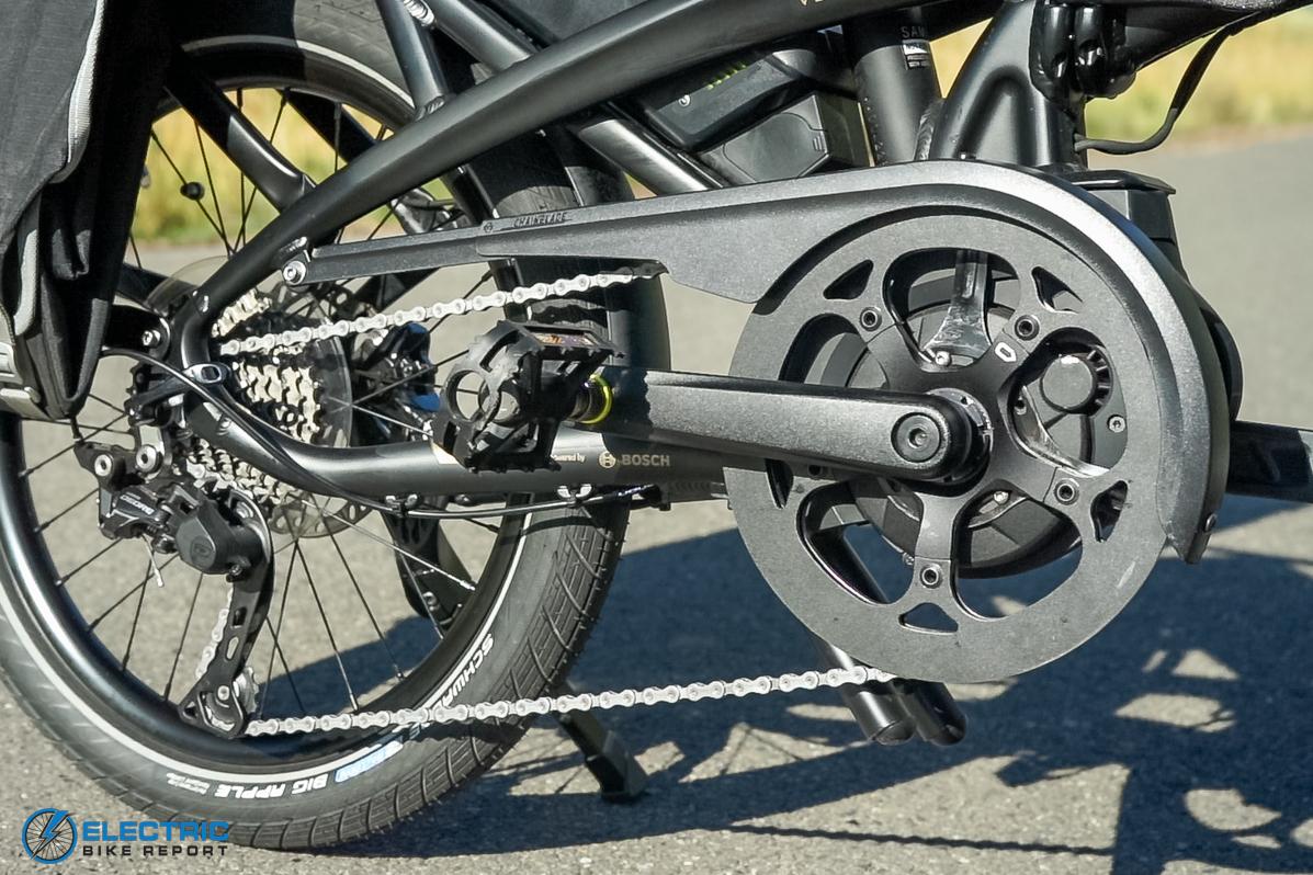 Tern Vektron S10 Electric Bike Review Drivetrain