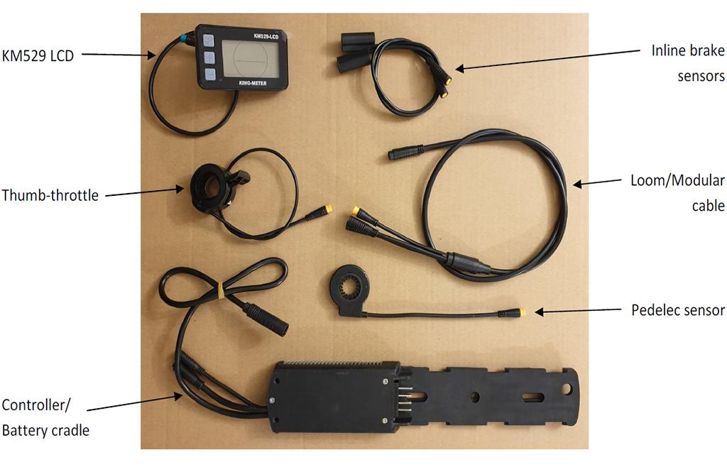 e-bike conversion kits - wiring