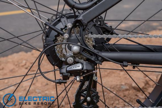 Dirwin Seeker Electric Fat Tire Bike Review 7 speed Altus Gears