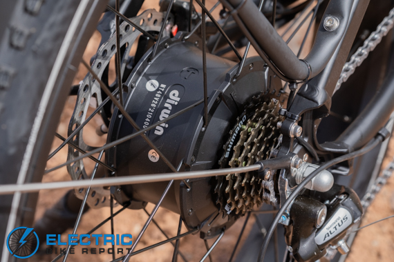 Dirwin Seeker Electric Fat Tire Bike Review 750 Watt Geared Hub Motor