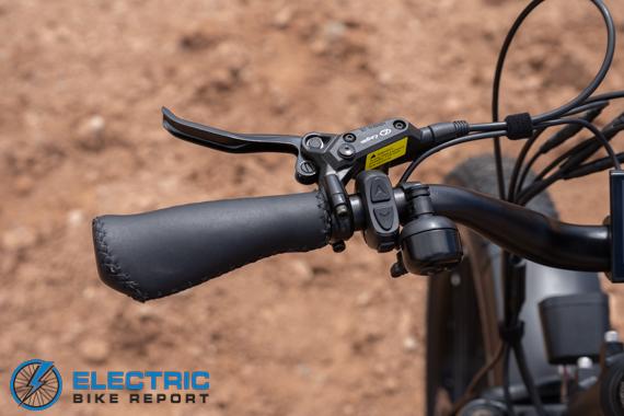 Dirwin Seeker Electric Fat Tire Bike Review PAS Controls