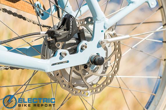 Electric Bike Company Model S Electric Bike Review 180mm Disc Brake Rotor