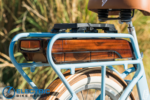 Electric Bike Company Model S Electric Bike Review Battery Integrated into Rear Rack