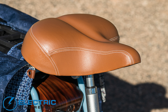 Electric Bike Company Model S Electric Bike Review Cushioned Leather Seat