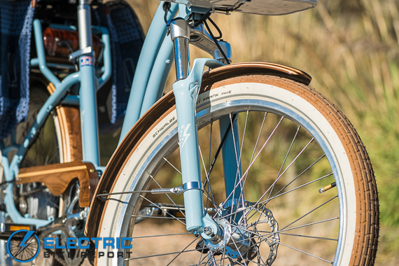 Electric Bike Company Model S Electric Bike Review Front Suspension Fork