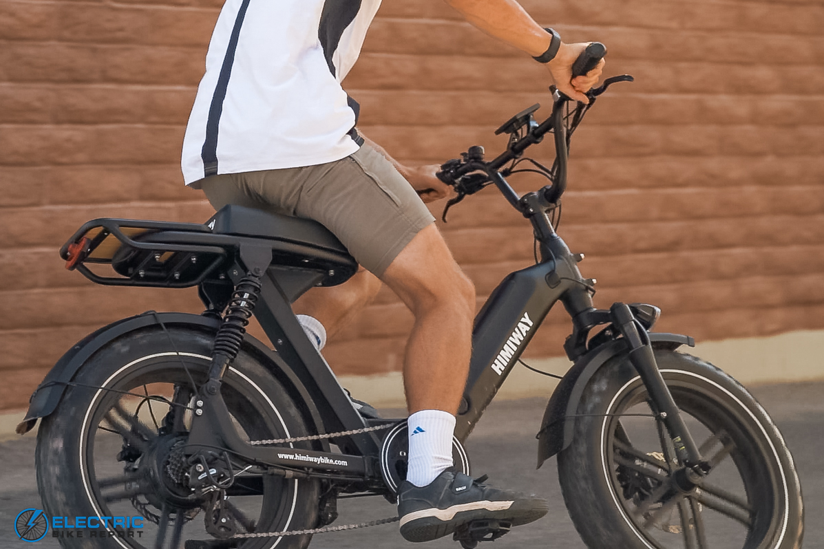 Himiway Escape Electric Bike Review cornering