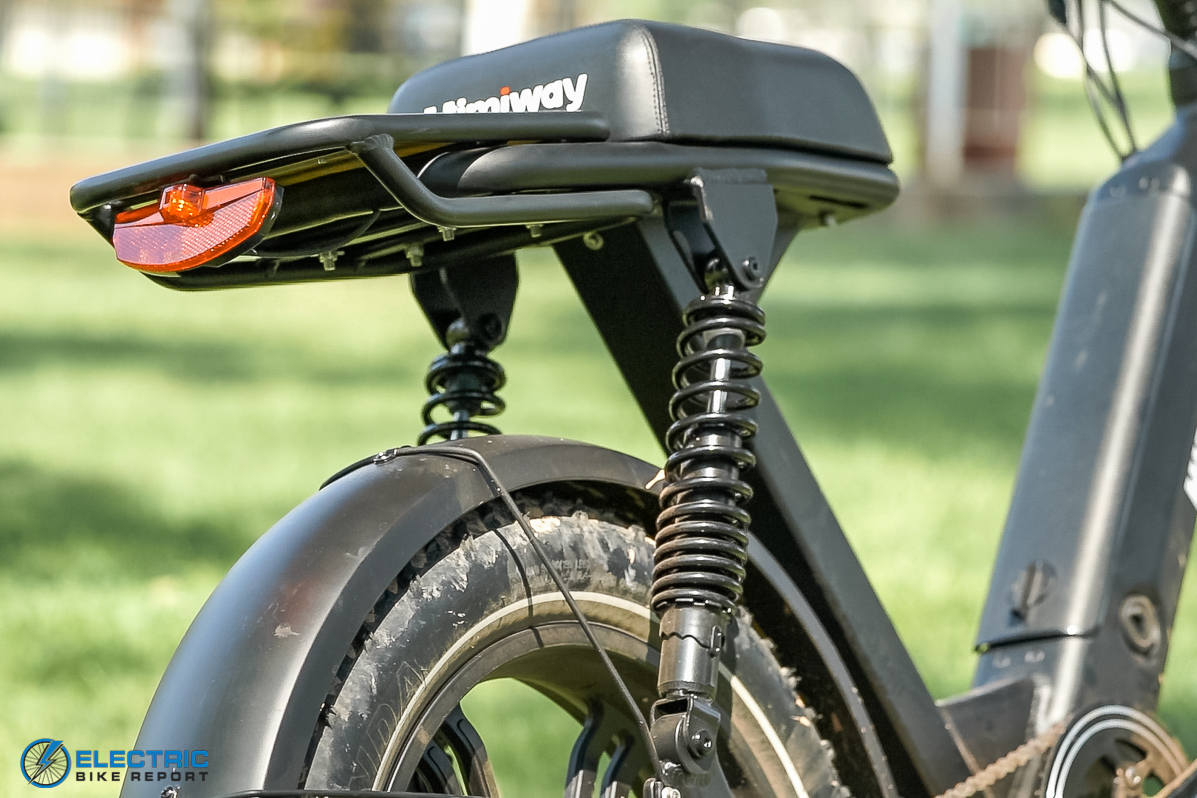 Himiway Escape Electric Bike Review rear coil shocks