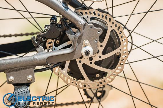 Rad Power Bikes Rad Rover 6 Plus Electric Bike Review 180 mm Rear Brake Rotor